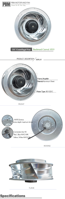 Backward Curved Fan : Dc centrifugal fan Φ backward curved buy