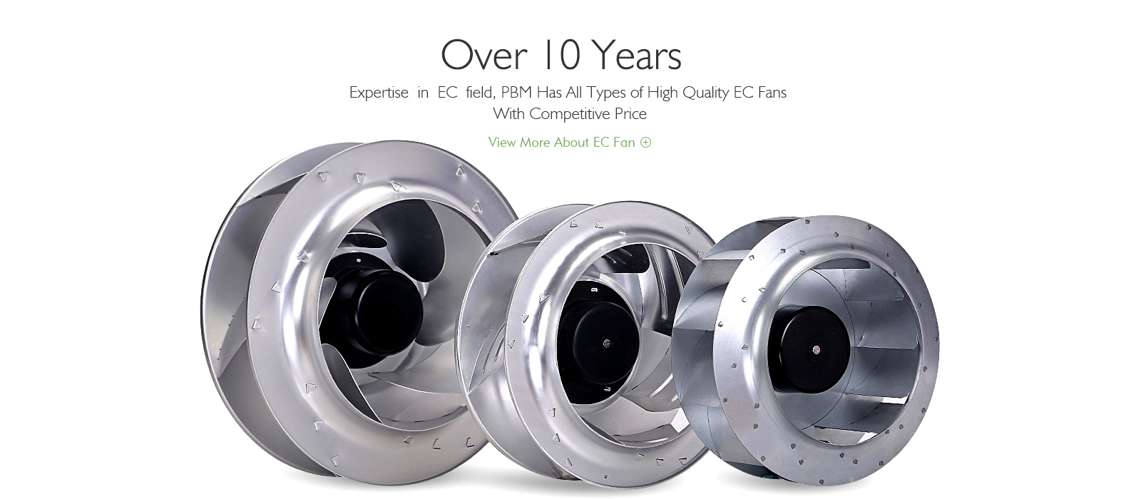 Axial Compact Fan Ec Centrifugal Fan Ec Blower Pbm Motor