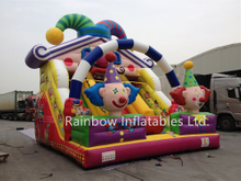 Outdoor Popular Inflatable Clown Theme Dry Slide for Toddlers