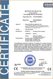 LED street light certificate road lamp lighting