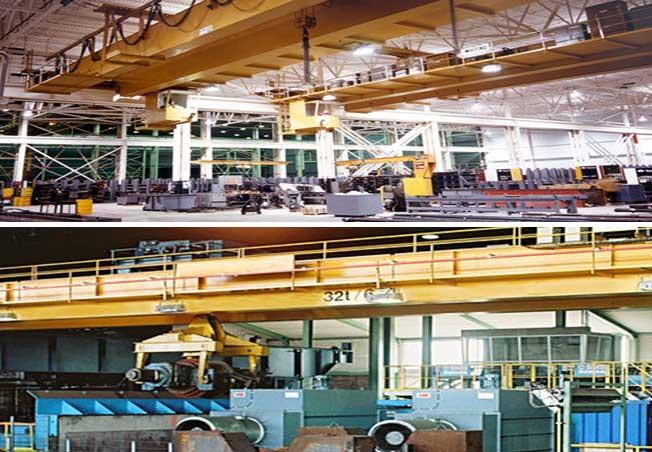 Краны двойного прогона надземные для обрабатывать металла