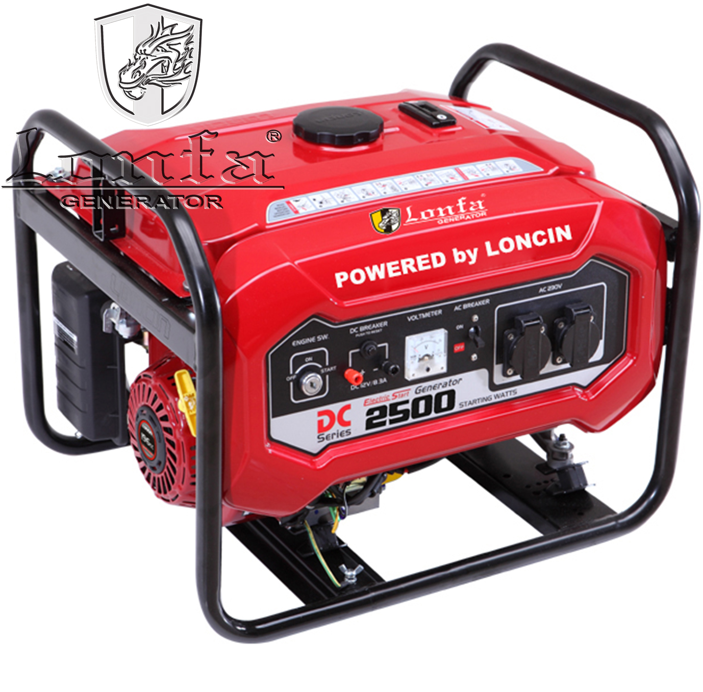 2 5 Kva Loncin Type Dc Gasoline Generator Lf2500ddc