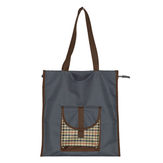 Folding Zipper Poyester Shopping Tote