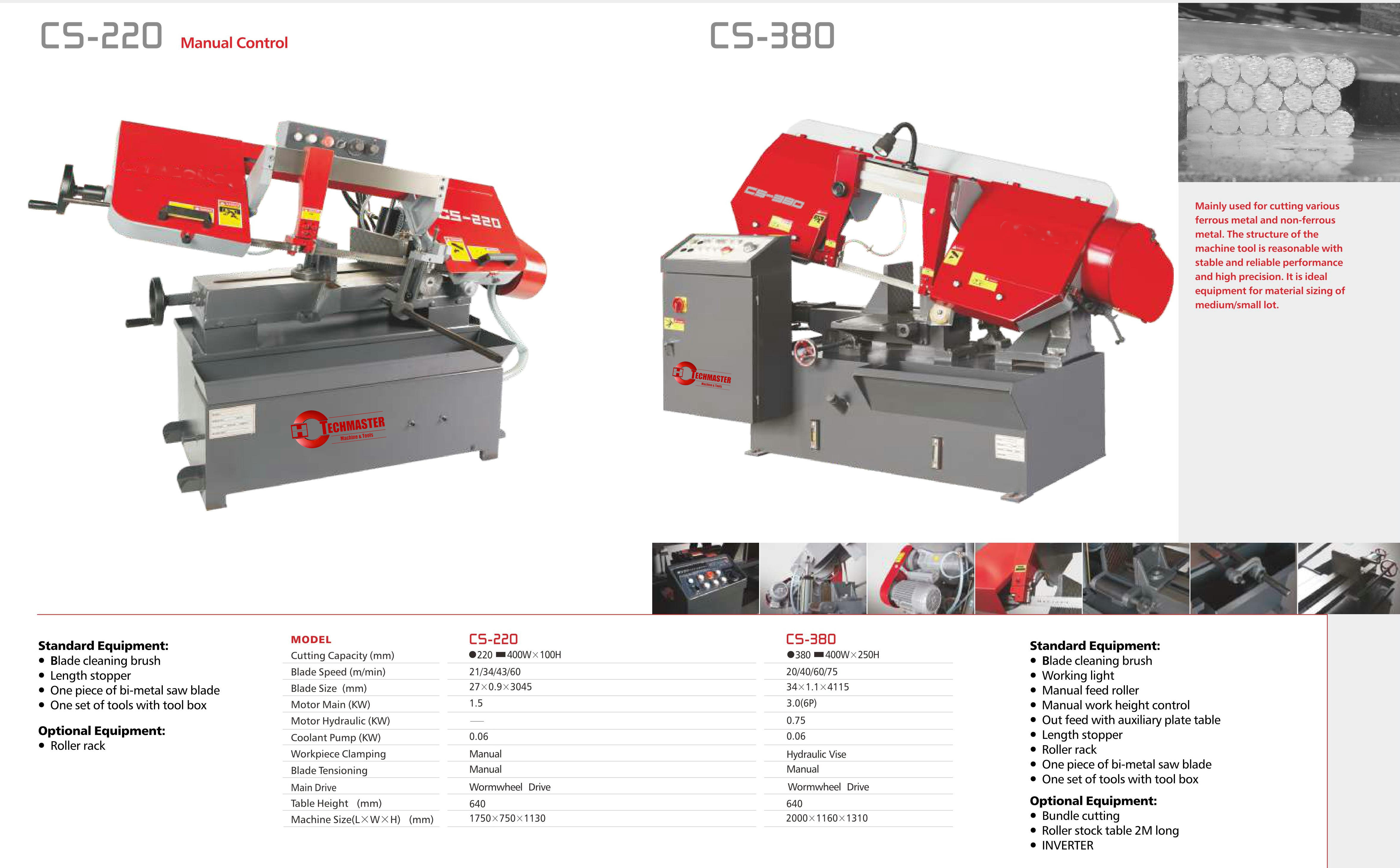 CS SERIES PIVOT SEMI AUTOMATIC BAN SAW CS220-CS380