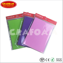 Color Eva foam sheets,OPP bag with header packing