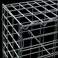 1 x 0.5 x 0.5m Heavy Galvanized wire mesh welded gabion box with spiral ring connected