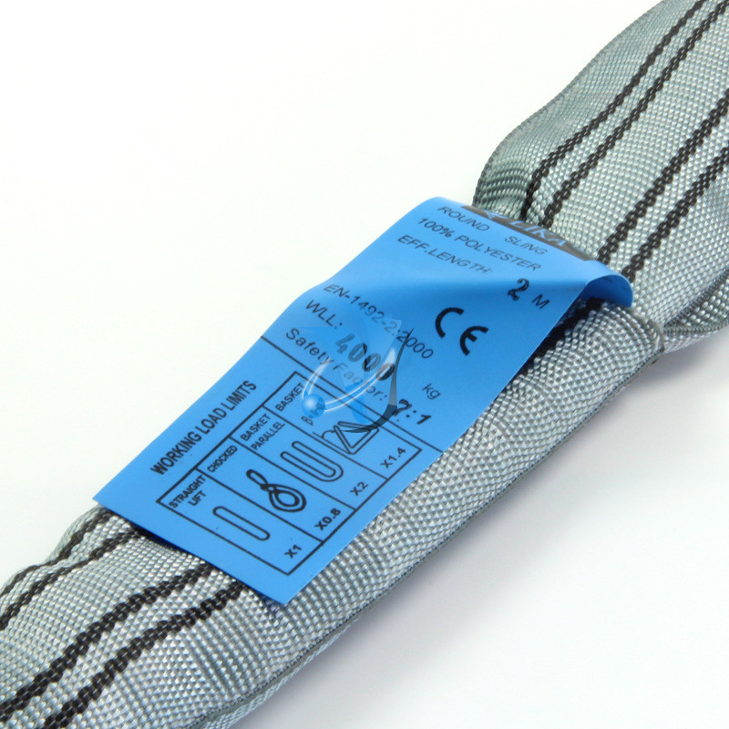 Safety Factor 7:1 4T Polyester Round Sling