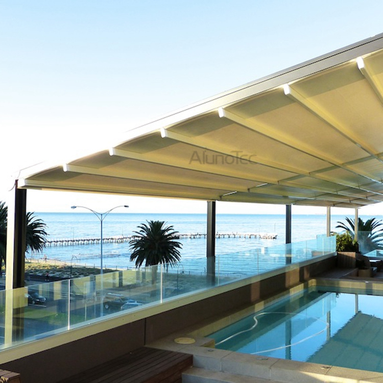 Aluminum Retractable PVC Pergola Fabric Roof - Buy pergola ...