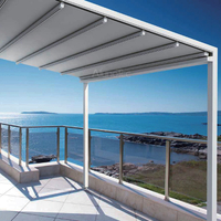 Aluminum Retractable Awning PVC Pergola Sunshading Cover
