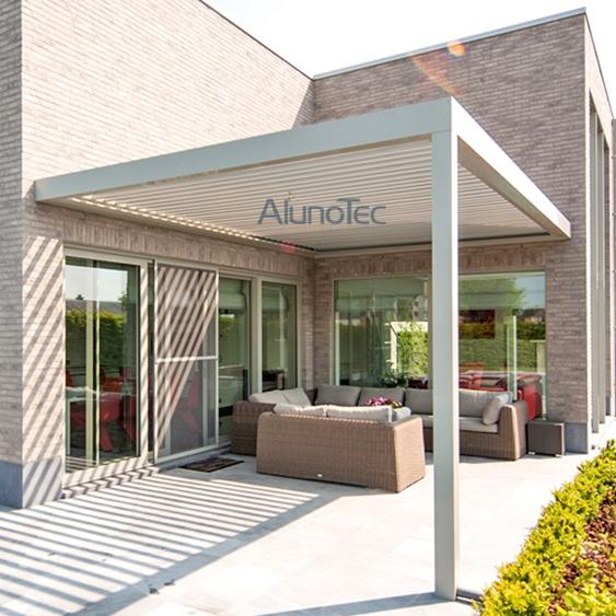 Motor Aluminum Patio Roof Pergola With Side Screen Buy