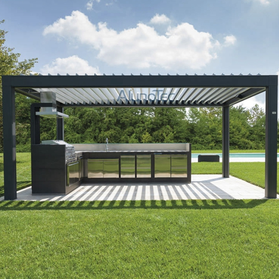 automatic aluminum louvered pergola kits buy aluminum pergola louvered pergola pergola kits. Black Bedroom Furniture Sets. Home Design Ideas