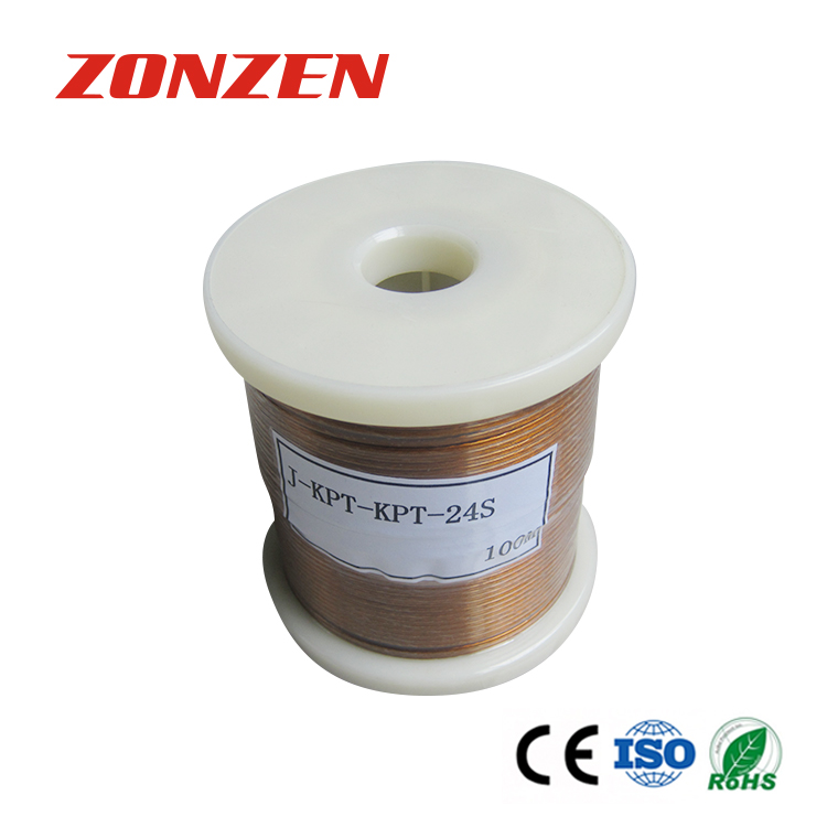 KAPTON insulated thermocouple wire and thermocouple extension wire--Single pair, flat