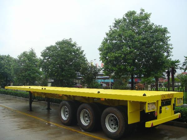 SINOTRUK 40FT 3 Axles Flatbed Semi Trailer