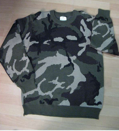 Military and Army Combat Camo Sweater