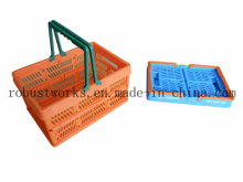 Small Size Folding Plastic Basket (FB001)