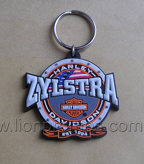 Custom Shape Logo Debossed Embossed PVC Silicone Key Chain