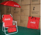 Coca Cola Summer Promotional Gift Folding Beach Chair with Umbrella and Bag