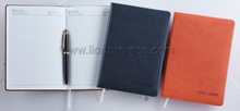 Corporate Business Gift Custom Logo Embossed PU Leather Cover Notebook