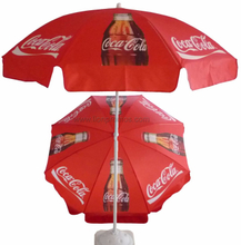 Custom Logo Printing Beverage Beer etc Vendor Promotional Gift Polyester 190T Beach Umbrella