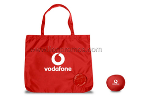 Vodafone logo Polyester Foldable Shopping Bag