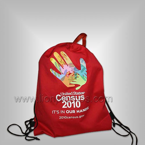 Events Promotional Gift Polyester Drawstring Backpack
