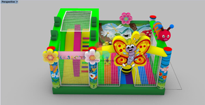 Images of Inflatable Spring Theme Bee Butterfly And Flowers Combo