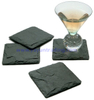 Set of 4 Natural Black Slate Placemats and Coasters