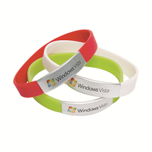 Silicone Wristband with metal clip and laser logo