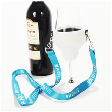Customized wine glass holder lanyards for advertising promotion
