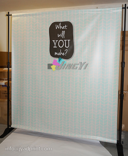 8X8ft Telescopic Display Banner background Step and Repeat LOGO Backdrop display stand, Adjustable Backdrop Banner, Telescopic backdrop stands with printing your artwork