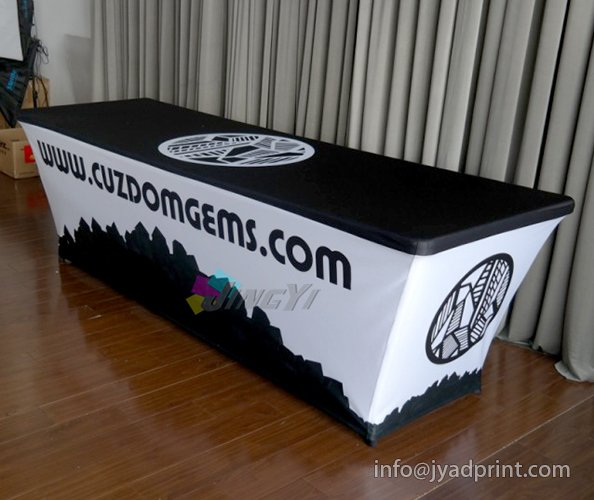 Custom Printed Trade Show Table Covers Heat Resistant