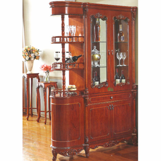 Living Room Cabinet with Wood Partition Table and Wine Cabinet
