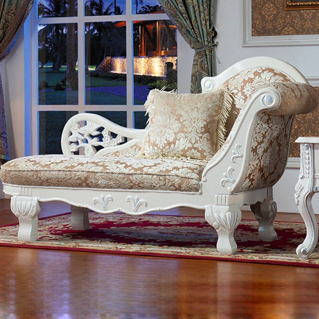 92Y Wood Chaise Lounge with Sofa Chair for Home Furniture Set