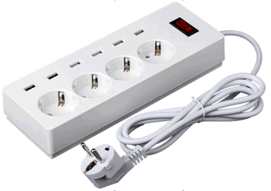 High Quality USB Power Socket with Euro Plug Outlet