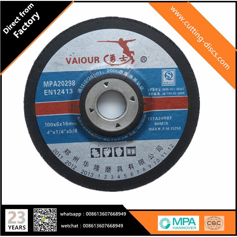 100x6x16mm Grinding Disk For Metal