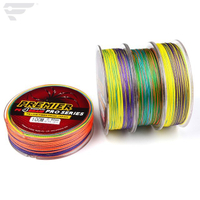 Braided Fishing Line with 4 Strands,100m Fishing Line PE Material with multiple colors for Freshwater and Saltwater