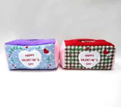 New Decorative Cute Stuffed Plush Tissue Box Cover Valentine Tissue Box