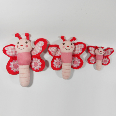 New Plush Dragonfly Sound Chew Squeaker Pet Toy