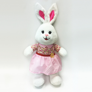 Lovely Bunny Rabbit Plush Toys with Floral Dress