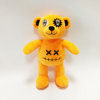 Halloween Yellow Terrible Bears with Button Eyes And embroidered Smiling