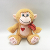 Valentine Soft Toy Stuffed Plush Monkey with Embroidery Heart