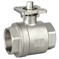 2PC Stainless Steel Ball Valve With Mounting Pad