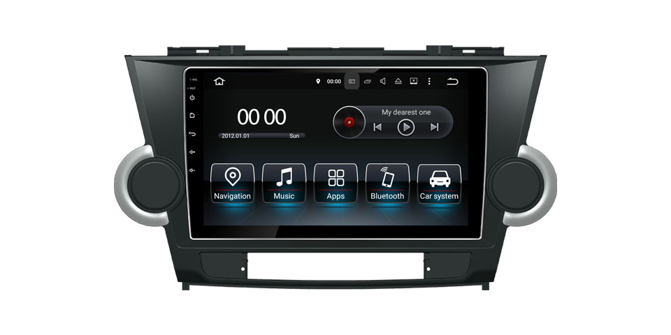 2009 Toyota Highlander Car DVD Player Radio Android 9.0 GPS Navigation Stereo Head Units TV (Fits: Highlander)