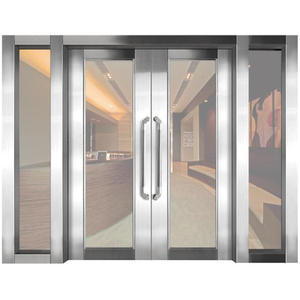 Steel frame fire resistant glass door