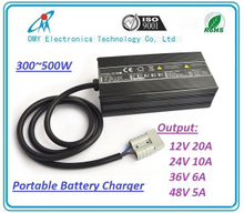 500W Battery Intelligent Charger for Electric Vehicle