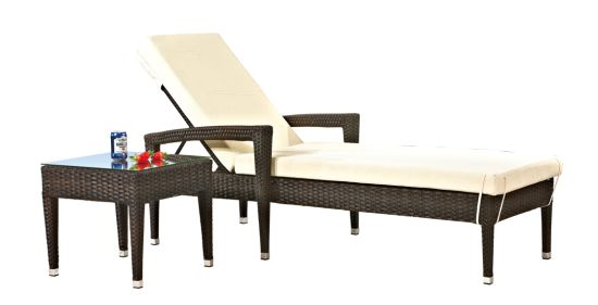 Outdoor Wicker/Rattan Pool Chaise Lounge (LN-6038)