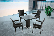 Garden Patio Wicker/Rattan Dining Set - Outdoor Furniture (LN-932)