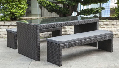 Garden Patio Wicker / Rattan Furniture Dining Set (LN-5079)