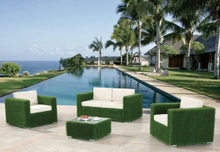 Garden Patio Wicker / Rattan Sofa Set - Outdoor Furniture (LN-3027)