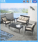 Outdoor Leisure Furniture Black Poly Rattan Sofa Set Armchair